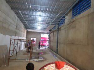 công trình đóng trần thạch cao, sơn nước làm văn phòng ở đường vĩnh phú 38, thuận an, bình dương 1