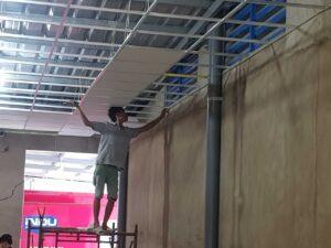 công trình đóng trần thạch cao, sơn nước làm văn phòng ở đường vĩnh phú 38, thuận an, bình dương ảnh số 3