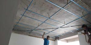 quá trình đi khung thạch cao chuẩn xác là tiền đề tốt để có trần thạch cao đẹp