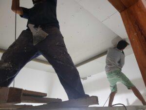 Một công trình đóng thạch cao cho biệt thự tại kdc Đại Quang thuộc Dĩ An, Bình Dương