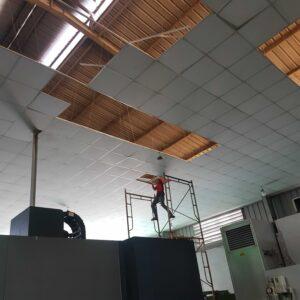 thi công trần la phông nhà xưởng gias rẻ cho công ty khách hàng ở tại khu vực Bình Dương